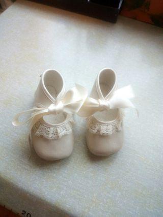 Zapatos bebe bautizo