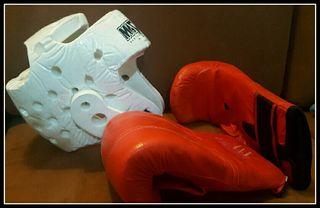 kit Boxeo Guantes y Protector. Vendo + cosas x mud