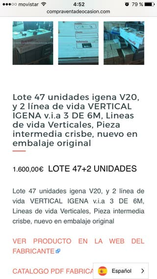 47 igena anclaje v20 y 2 via 3 crisbe Linea vida