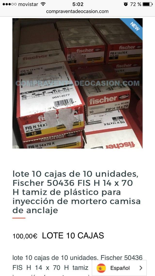 10 cajas fischer 50436 FIS H 14 x 70 H camisa ancl