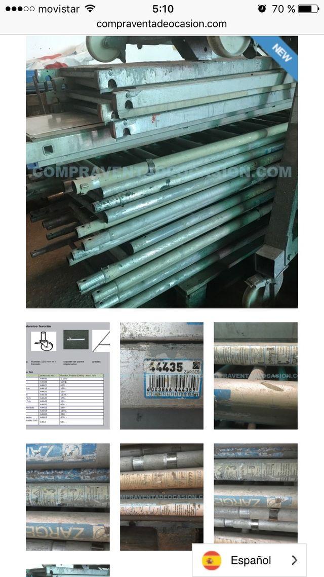 Lote andamio zarges aluminio 18+6 andamios alumini