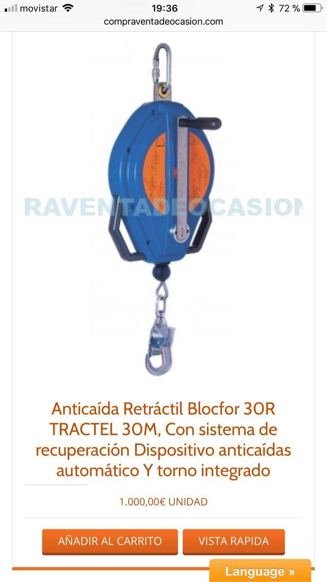Anticaida retractil tractel blocfor 30r 30 m