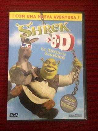 Pelicula Dvd shrek y en 3D
