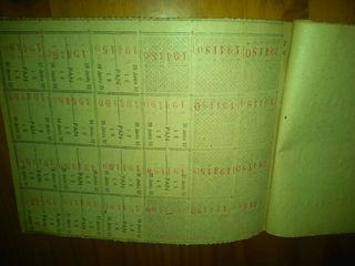 Antigua cartilla de racionamiento 1952