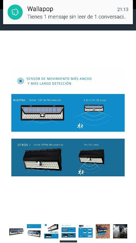 7dcad09d796ab 54 LEDs Lámparas Solares Mpow de Foco Solares LED de segunda mano ...