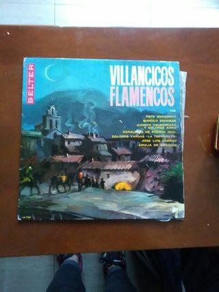 """Disco vinilo lp """"Villancicos flamencos"""""""
