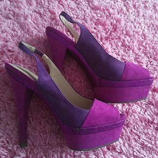 Zapatos morados 38 Carolina Boix