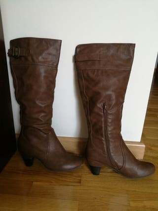 botas altas tacon