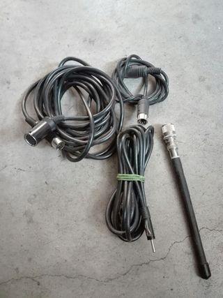 cable de antena y cargador CD