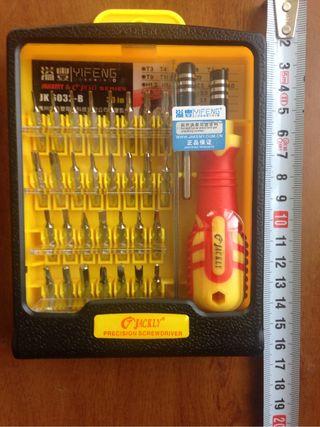 Destornillador con +30 puntas