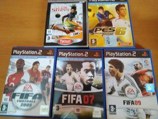 Juegos PS2 FIFA y PRO