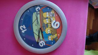 Reloj pared infantil Simpson