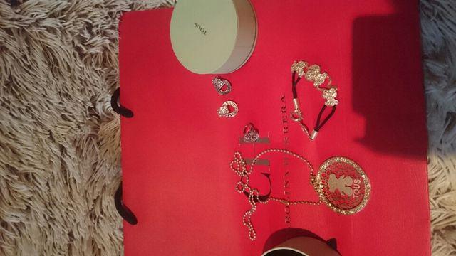 Conjunto de tous collar perdientes anillo pulsera