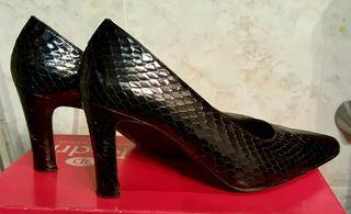 zapatos de serpiente diseño italiano poco usados n