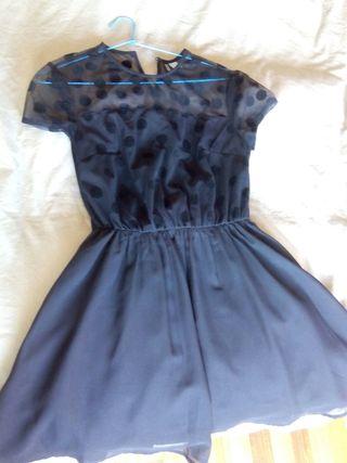 Vestido negro corto H&M talla 36/38