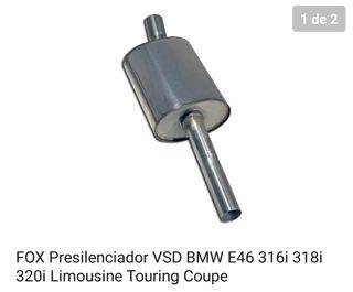 silenciador medio bmw e46.nuevo