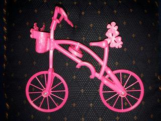 bicicleta muñeca barbie rosa de Mattel