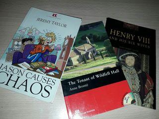 Libros de inglés: dos de nivel A2 y uno uno de B1