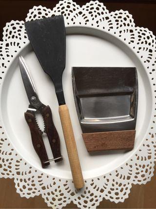 Juego utensilios cocina madera