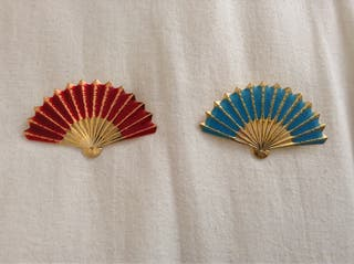 Broches Flamenca Abanicos