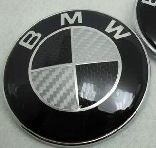 Emblemas bmw carbono negro