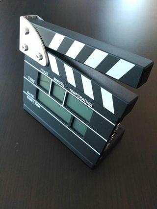 reloj digital de cine