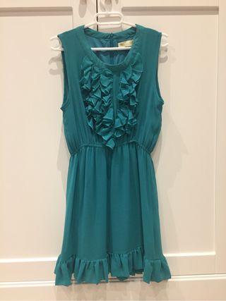 Vestido verde turquesa