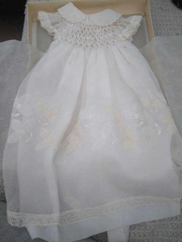 vestido bautismo