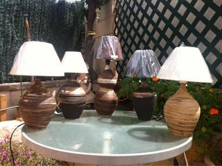 Lamparas De Ceramica Hechas En Torno Alfarero