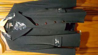 traje de señora negro con brillo 3 piezas