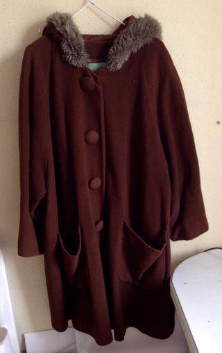 Abrigo marrón vintage oversize