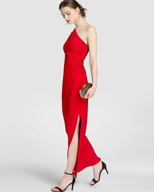 c29ad84bd6c66 Vestido fiesta rojo Ralph Lauren de segunda mano por 70 € en Ames en ...