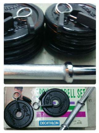 kit de musculación 14kg - pesas Decathlon