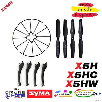 Set Negro Drone SYMA X5H X5HC X5HD X5HW