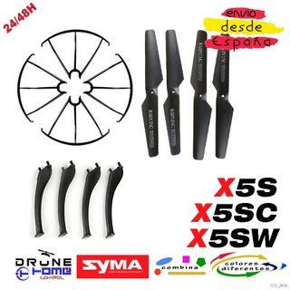 Set Negro Drone SYMA X5S X5SC X5SW