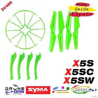 Set Verde Drone SYMA X5S X5SC X5SW