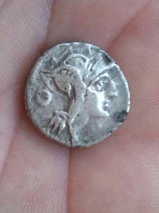 moneda romana de plata
