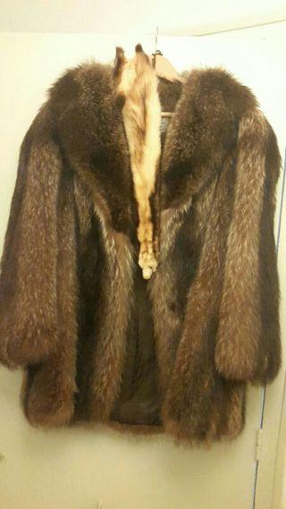 Abrigo de piel natural marca siberia