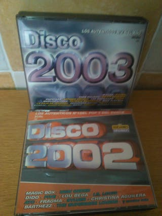 CDs disco 2002 y disco 2003