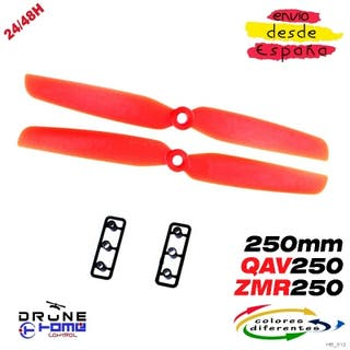 Hélice 6030 QAV250; ZMR250 240 Mini Color Rojo