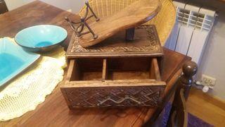 caja de madera de roble macizo
