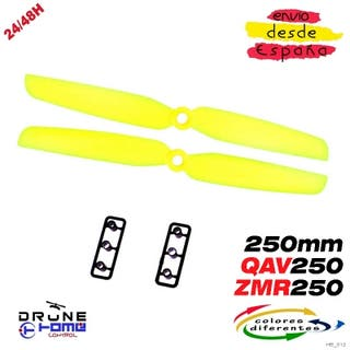 Hélice 6030 QAV250; ZMR250 240 Mini Color Amarillo
