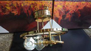 Lámpara de techo color oro