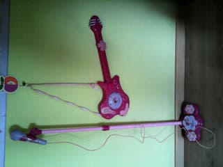 guitarra y microfono infantil segunda mano  España