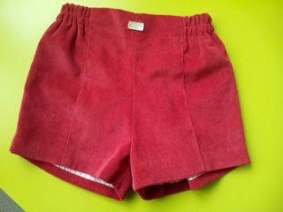 pantalon niño corto pana