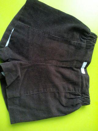 pantalon corto niño pana