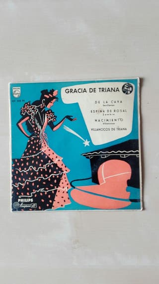"Disco vinilo EP 7"" Gracia de Triana"