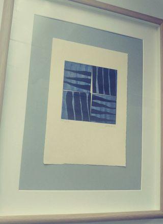 Cuadro con lámina original arte contemporáneo