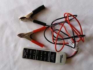 Comprobador baterías y alternadores de coche