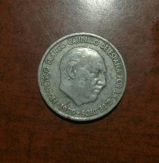 Moneda España 10 cts año 1959